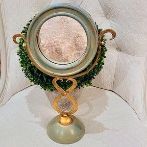 Hand Painted Standing Vanity Mirror-FREE SHIP